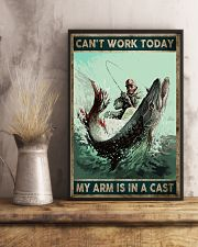 Can't work today My arm is in a cast 24x36 Poster lifestyle-poster-3