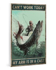 Can't work today My arm is in a cast 24x36 Gallery Wrapped Canvas Prints thumbnail
