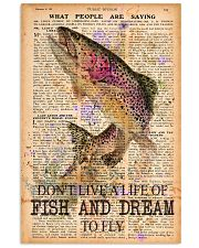 Don't live a life of fish and dream to fly 24x36 Poster front