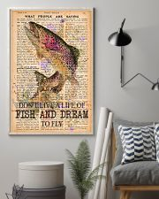 Don't live a life of fish and dream to fly 24x36 Poster lifestyle-poster-1