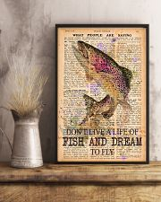 Don't live a life of fish and dream to fly 24x36 Poster lifestyle-poster-3