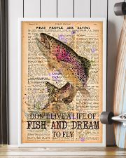 Don't live a life of fish and dream to fly 24x36 Poster lifestyle-poster-4
