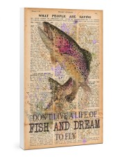 Don't live a life of fish and dream to fly 24x36 Gallery Wrapped Canvas Prints thumbnail