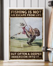 Fishing is not an escape from life 24x36 Poster lifestyle-poster-4