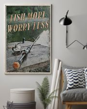Fish more worry less 24x36 Poster lifestyle-poster-1