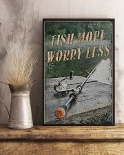 Fish more worry less 24x36 Poster lifestyle-poster-3