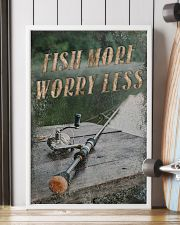 Fish more worry less 24x36 Poster lifestyle-poster-4
