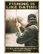 Fishing is like Dating 24x36 Poster front