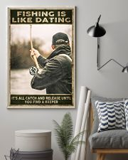 Fishing is like Dating 24x36 Poster lifestyle-poster-1