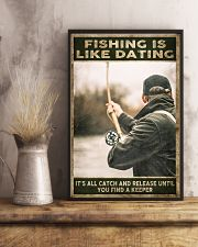 Fishing is like Dating 24x36 Poster lifestyle-poster-3