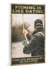 Fishing is like Dating 24x36 Gallery Wrapped Canvas Prints thumbnail