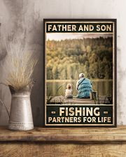 Father and Son - Fishing partners for Life 24x36 Poster lifestyle-poster-3