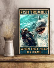 Fish tremble when they hear my name 24x36 Poster lifestyle-poster-3