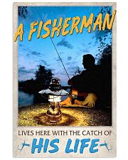 A Fisherman lives here with the catch of His Life 24x36 Poster front