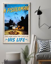 A Fisherman lives here with the catch of His Life 24x36 Poster lifestyle-poster-1