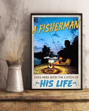 A Fisherman lives here with the catch of His Life 24x36 Poster lifestyle-poster-3