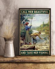 Call her beautiful and take her fishing 24x36 Poster lifestyle-poster-3