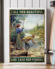 Call her beautiful and take her fishing 24x36 Poster lifestyle-poster-4