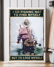 I go fishing not to find myself But to lose myself 24x36 Poster lifestyle-poster-4