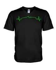 MX-5 Miata NB Heartbeat V-Neck T-Shirt thumbnail