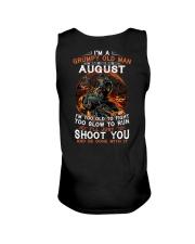 Grumpy old man August tee Cool T shirts for Men Unisex Tank thumbnail