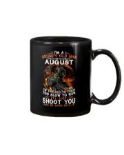 Grumpy old man August tee Cool T shirts for Men Mug thumbnail