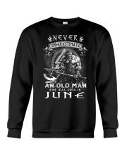 Never undrestimate an old man-T6 Crewneck Sweatshirt thumbnail