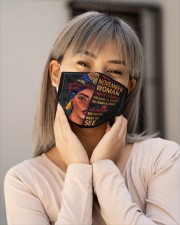 NOVEMBER WOMAN-D Cloth face mask aos-face-mask-lifestyle-17