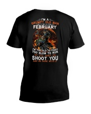 February T shirt Printing Birthday shirts for Men V-Neck T-Shirt thumbnail