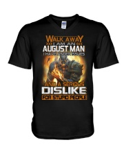 dislike august V-Neck T-Shirt thumbnail