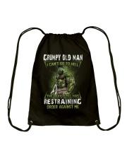 H - GRUMPY OLD MAN Drawstring Bag thumbnail