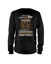 January T shirt Printing Birthday shirts for Men Long Sleeve Tee thumbnail