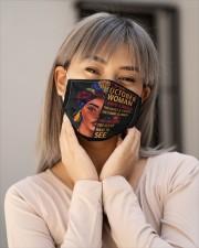 OCTOBER WOMAN-D Cloth face mask aos-face-mask-lifestyle-17