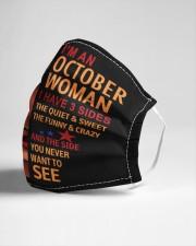 OCTOBER WOMAN-D Cloth face mask aos-face-mask-lifestyle-21