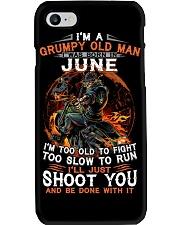 H - Grumpy old man June tee Cool T shirts for Men Phone Case thumbnail