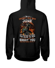 H - Grumpy old man June tee Cool T shirts for Men Hooded Sweatshirt thumbnail