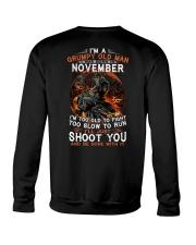 H Grumpy old man November tee Cool Tshirts for Men Crewneck Sweatshirt thumbnail