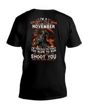 H Grumpy old man November tee Cool Tshirts for Men V-Neck T-Shirt thumbnail