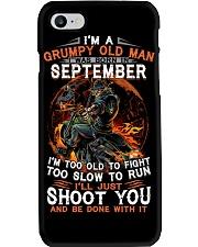 H - Grumpy old man September tee Cool Tshirts Men Phone Case thumbnail