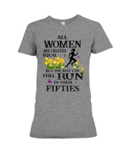 Run-equal-50 Premium Fit Ladies Tee thumbnail