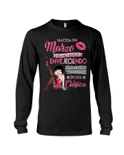 Camisetas sublimadas mujer clásica nacida Marzo Long Sleeve Tee front