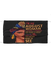 AUGUST WOMAN-D Cloth face mask front
