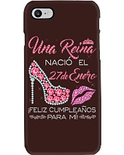 27 DE ENERO Phone Case tile