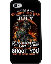 Grumpy old man July tee Cool T shirts for Men Z Phone Case thumbnail