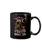 Grumpy old man July tee Cool T shirts for Men Z Mug thumbnail