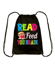 Great Shirt for book loves Drawstring Bag thumbnail