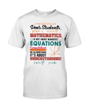 Math Teacher Classic T-Shirt front