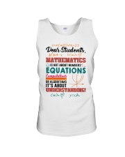 Math Teacher Unisex Tank thumbnail