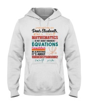 Math Teacher Hooded Sweatshirt tile
