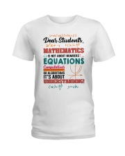 Math Teacher Ladies T-Shirt tile